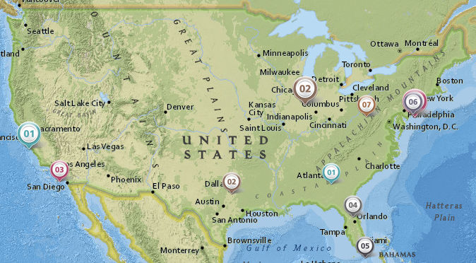 Map Of AirVPN United States Servers OffTopic AirVPN - Saint louis on the us map