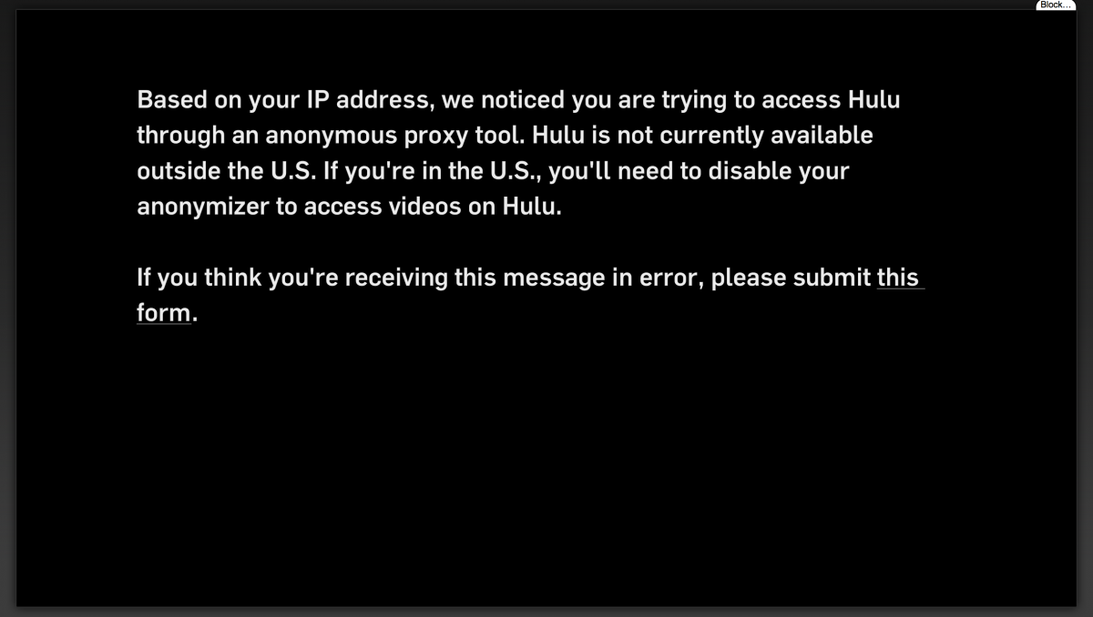 Hulu abc go geoblocked even when using us servers blocked attached thumbnails ccuart Choice Image